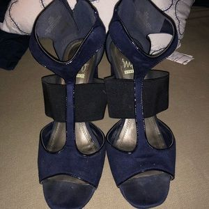 Impo stretch dark blue and black heels